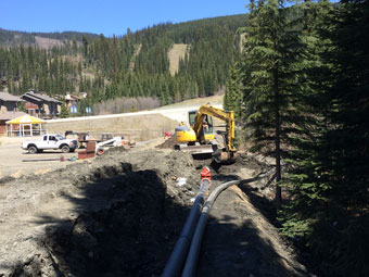 Water and Transfer line install Sun Peaks