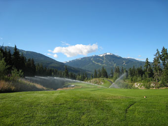 Chateau Whistler Golf Sprinkler