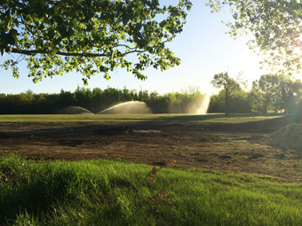 Irrigation Garrison Golf Course